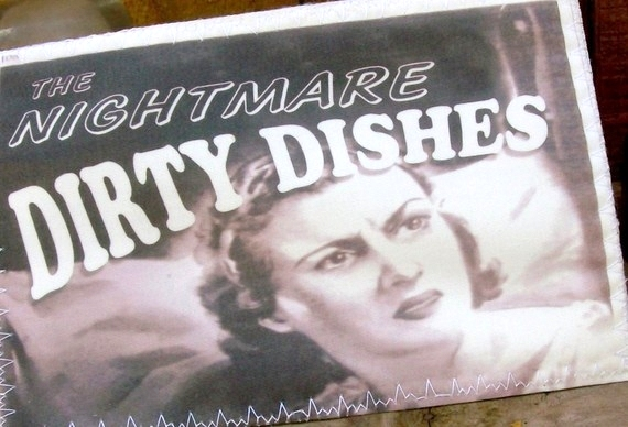 Dishwasher Magnet Clean Dirty Flip sign Nightmare Paradise