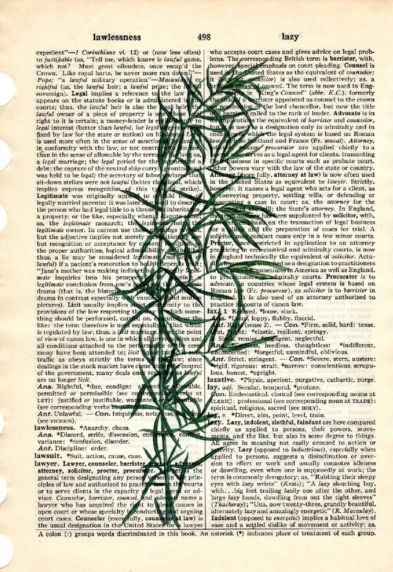 Dictionary Book Page Art print Tarragon herb