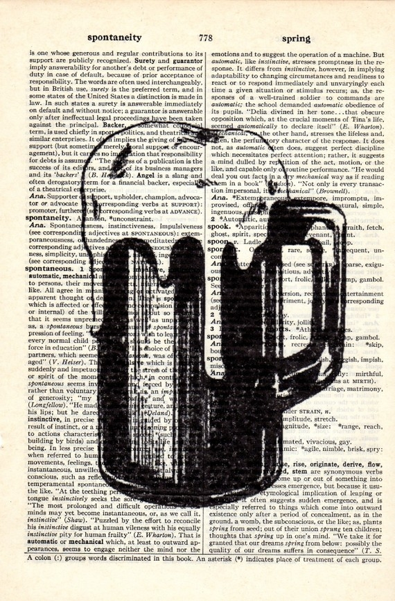 Dictionary Book Page Art print Beer Mug